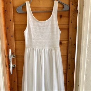 H&M Handkerchief Hem White Tank Top Dress